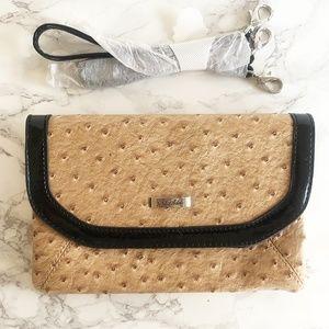 Faux Ostrich Clutch/Wristlet/Shoulder Bag NWOT